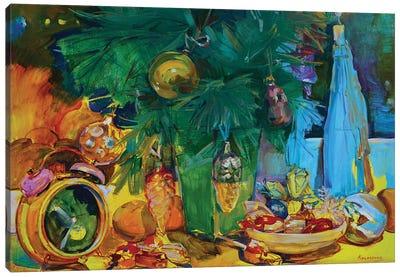 Cozy Christmas Evening Canvas Art Print