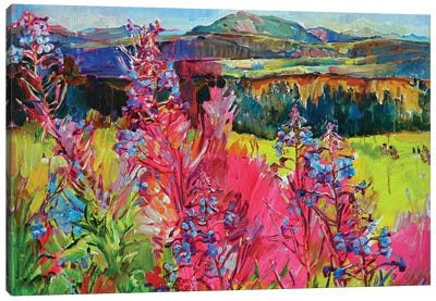 Flowers In The Mountains Canvas Art Print