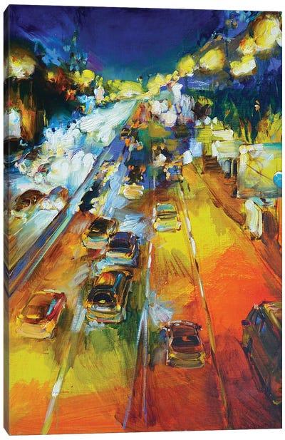Evening City Landscape Canvas Art Print