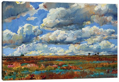Blue Sky And Clouds Canvas Art Print