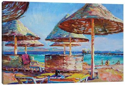 At The Sea Canvas Art Print
