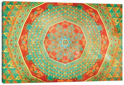 Mandala Series: Citrus Canvas Art Print