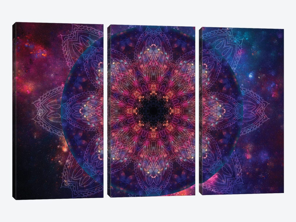 Mandala Series: Galactic Vision by Aimee Stewart 3-piece Canvas Art