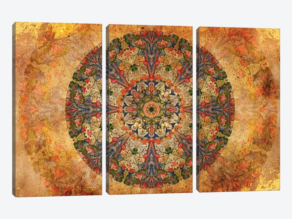 Mandala Series: Lost Manuscript by Aimee Stewart 3-piece Canvas Print