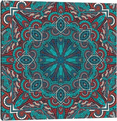Mandala Series: Moroccan Sea I Canvas Print #AIM17