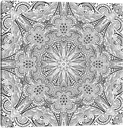 Mandala Series: Moroccan Sea II Canvas Print #AIM18