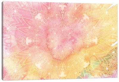 Mandala Series: Pink Lemonade Canvas Print #AIM20