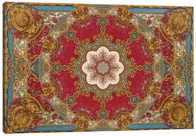 Mandala Series: Roccoco Red Canvas Print #AIM21