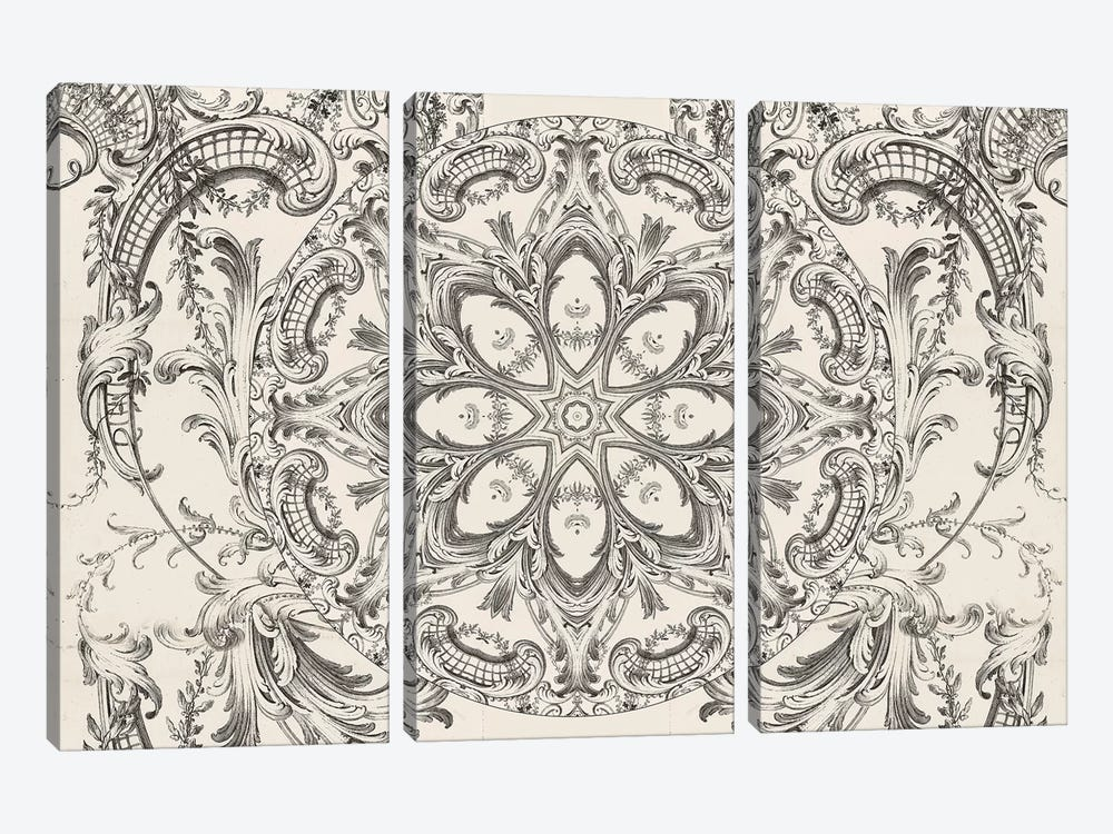 Scrollwork Daydreams by Aimee Stewart 3-piece Canvas Wall Art