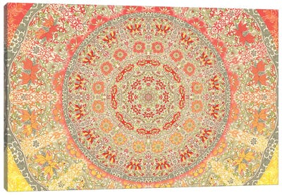 Mandala Series: September Sunlight Canvas Art Print