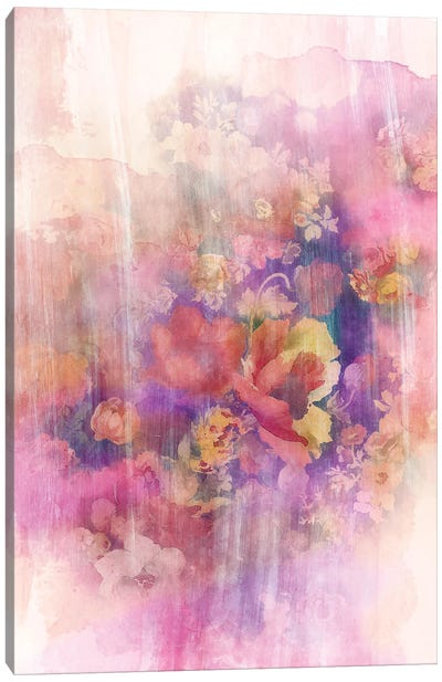 Smokey Floral Series: April Canvas Art Print