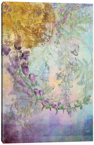 Smokey Floral Series: Foxglove Canvas Art Print