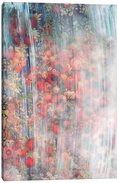 Smokey Floral Series: Lush Canvas Art Print