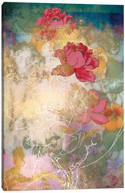 Smokey Floral Series: Midsummer Canvas Art Print
