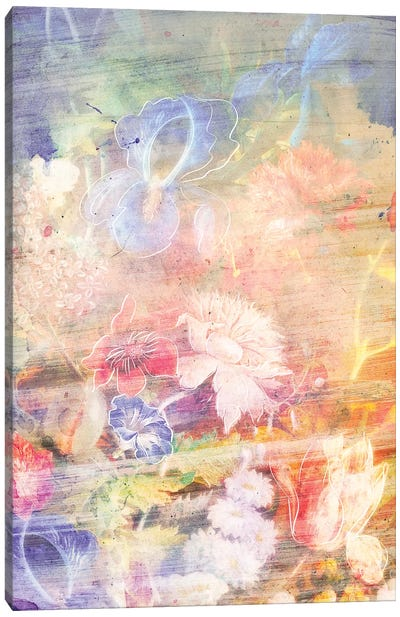Smokey Floral Series: Verdance Canvas Art Print