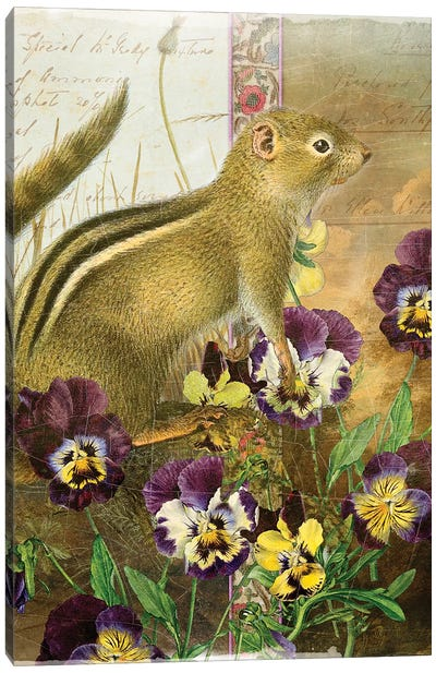 Whimsical Animals Series: Chipmunk Canvas Art Print
