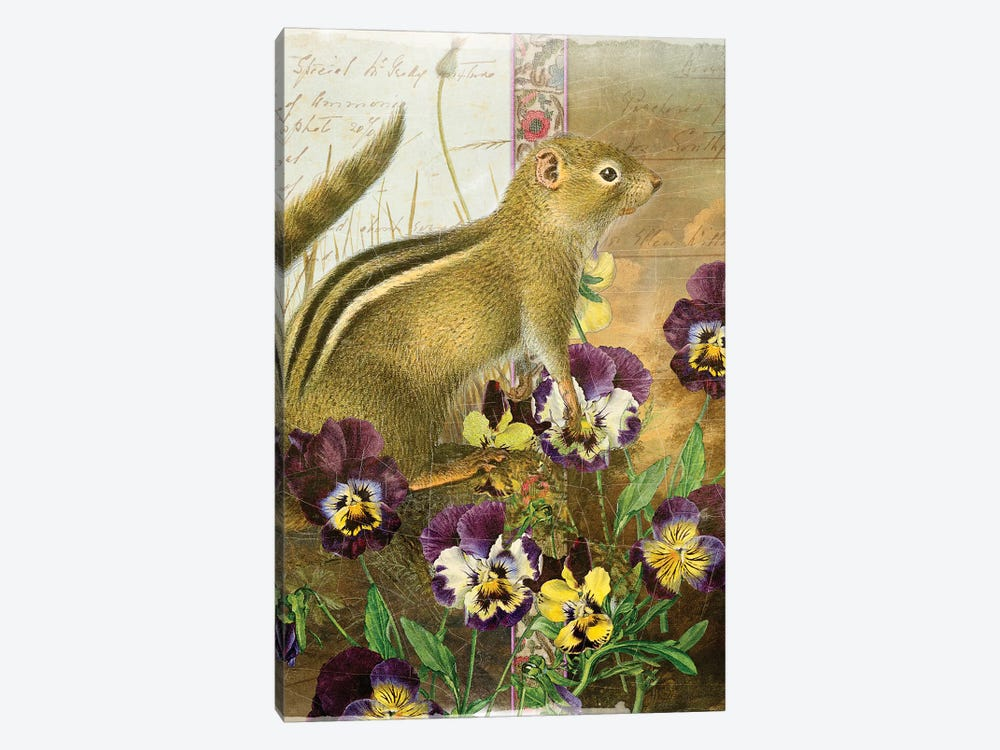 Whimsical Animals Series: Chipmunk by Aimee Stewart 1-piece Canvas Art Print
