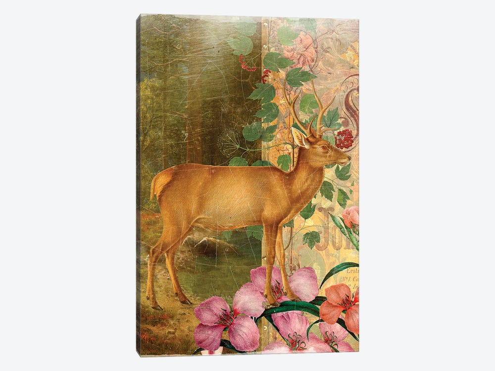 Whimsical Animals Series: Deer by Aimee Stewart 1-piece Canvas Art