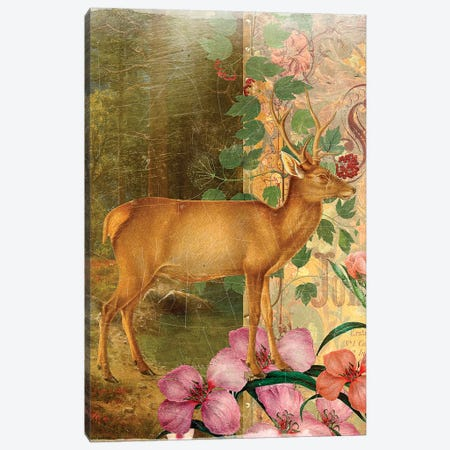 Deer Canvas Print #AIM35} by Aimee Stewart Canvas Wall Art