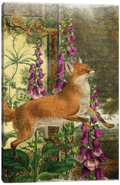 Whimsical Animals Series: Fox Canvas Art Print