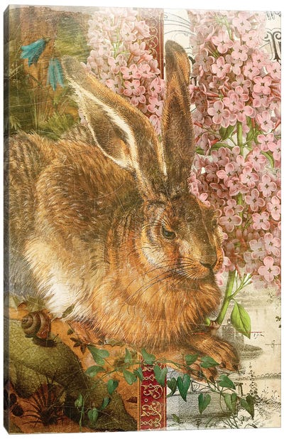 Whimsical Animals Series: Rabbit Canvas Art Print