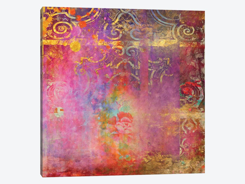 Boho Rose 1-piece Canvas Print