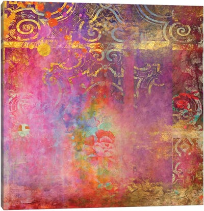 Boho Rose Canvas Art Print