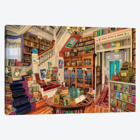 Wish Upon A Bookshop II Canvas Print #AIM40} by Aimee Stewart Canvas Art