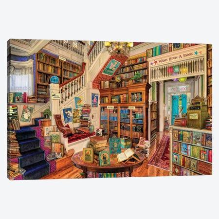 Wish Upon A Bookshop II Canvas Print #AIM40} by Aimee Stewart Canvas Art