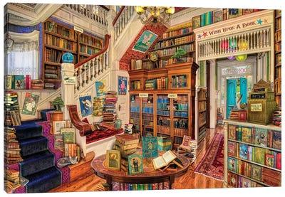 Wish Upon A Bookshop II Canvas Art Print