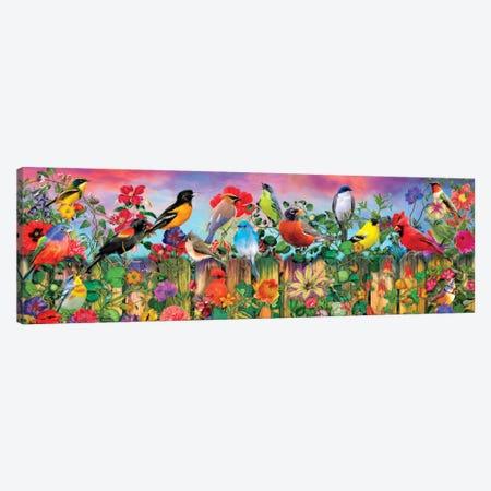 Birds And Blooms Garden I Canvas Print #AIM42} by Aimee Stewart Canvas Wall Art