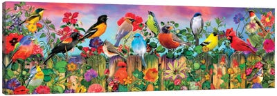 Birds And Blooms Garden I Canvas Art Print