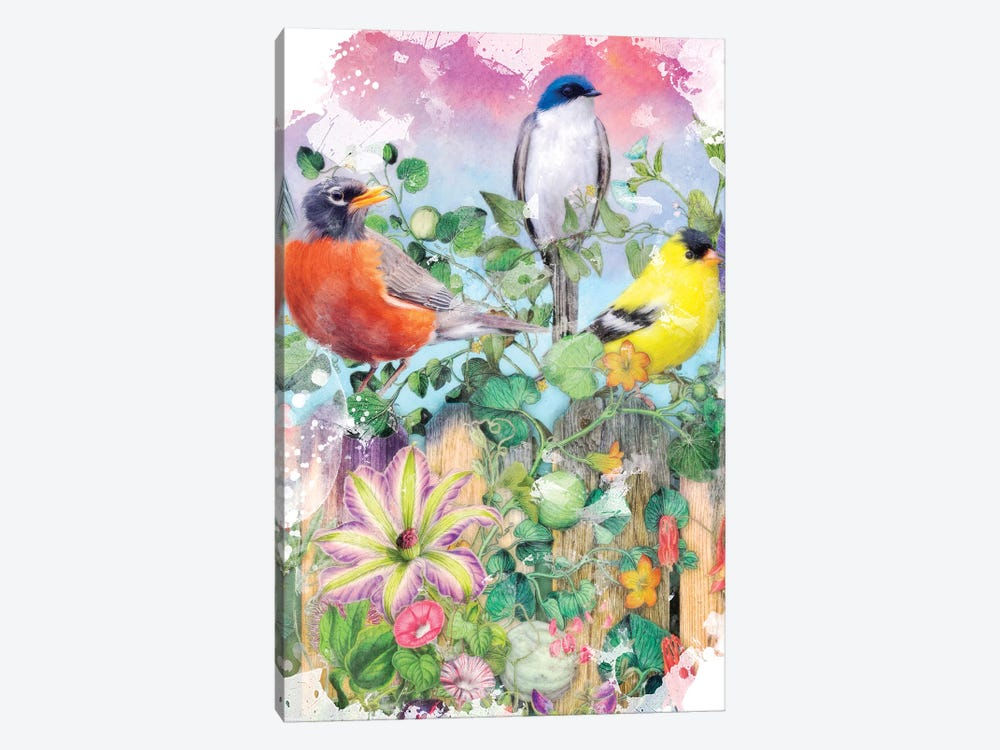 Birds And Blooms Garden II by Aimee Stewart 1-piece Canvas Print