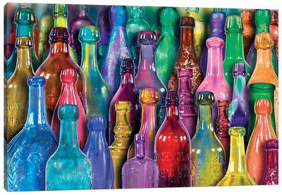 Colorful Glass Bottles Canvas Art Print