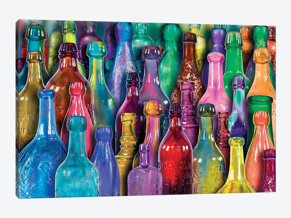Colorful Glass Bottles by Aimee Stewart 1-piece Canvas Art