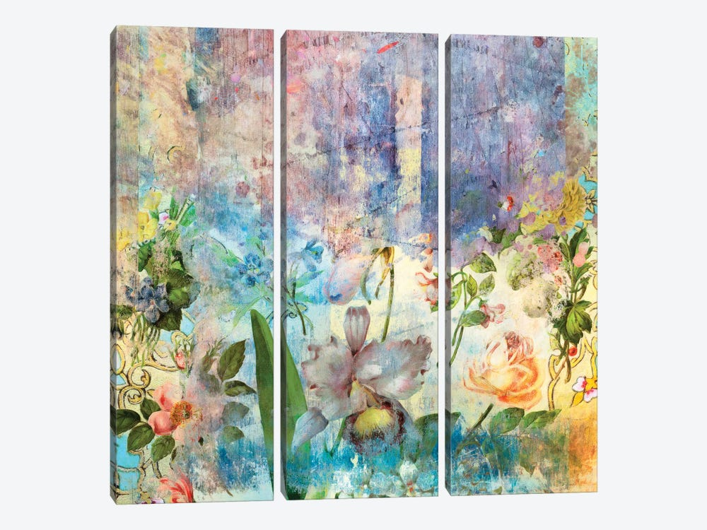 Ancient Future Series: Fresh Bloom 3-piece Canvas Art