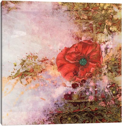 Ancient Future Series: Poppy Dreams Canvas Art Print