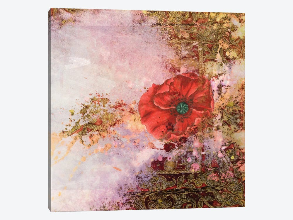 Ancient Future Series: Poppy Dreams 1-piece Canvas Wall Art