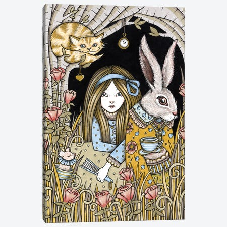 Curiouser And Curiouser Canvas Print #AIV23} by Anita Inverarity Art Print