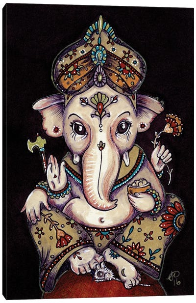 Ganesha Canvas Art Print