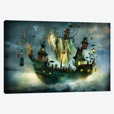 Flying Rigmor Canvas Print #AJA11} by Alexander Jansson Canvas Art Print