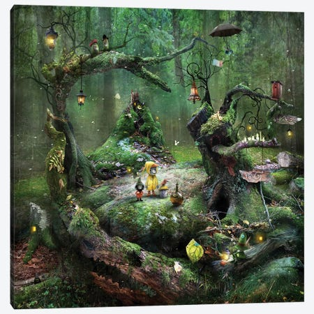 Gnarly Moss Periphery Canvas Print #AJA12} by Alexander Jansson Art Print