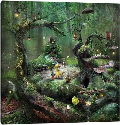 Gnarly Moss Periphery Canvas Art Print