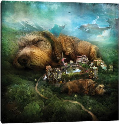 Sleeping Dogs Canvas Art Print