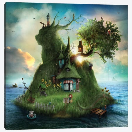 Sommaren Canvas Print #AJA30} by Alexander Jansson Canvas Print