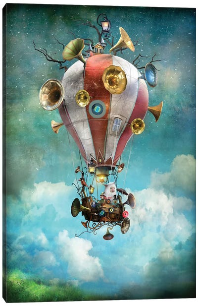 The Gramoballoophone Canvas Art Print