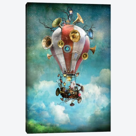 The Gramoballoophone Canvas Print #AJA32} by Alexander Jansson Canvas Print