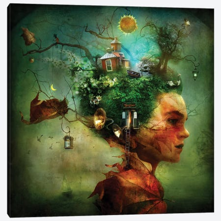 The Grove Canvas Print #AJA33} by Alexander Jansson Canvas Art Print