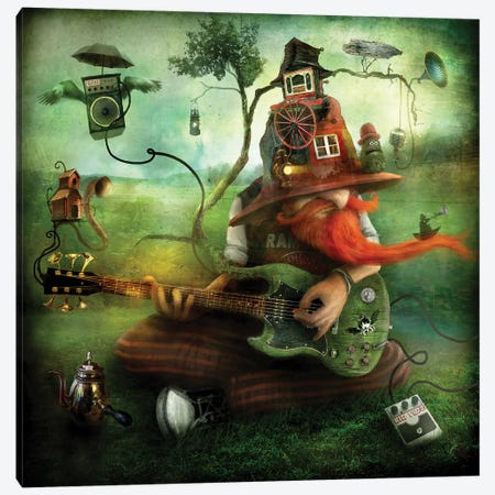 The Trubadour Canvas Print #AJA34} by Alexander Jansson Canvas Wall Art