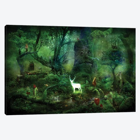 Transition Night Canvas Print #AJA36} by Alexander Jansson Canvas Artwork